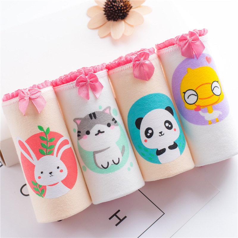 Girls Briefs Cotton   Panties   for Women Cartoon Print Underpants Ladies Seamless Low Waist Underwear Female   Panty   Whosale 2018