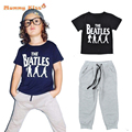 Baby Boys Clothes Set Summer T-shirt+Pants Tracksuit Soft Breathable Modal Fabric Kids Boys Sport Clothing C25