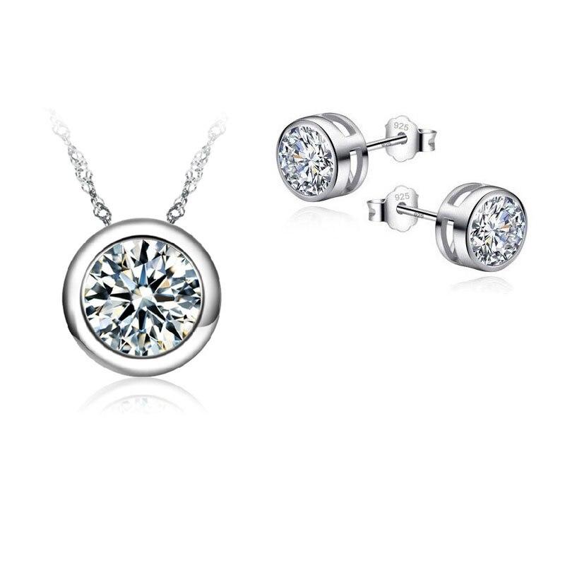 8bd2ebc7af780 JEXXI أعلى جودة مجموعات مجوهرات للنساء اكسسوارات الزفاف قلادة قلادة  تشيكوسلوفاكيا مسمار طقم من الحلقان