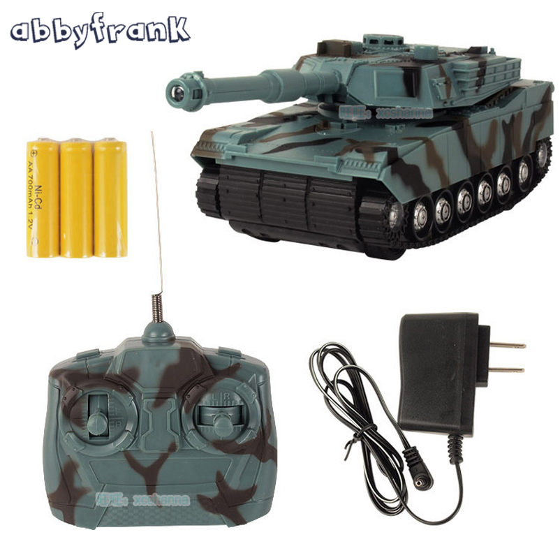 Abbyfrank RC Tank Battle Toy Tank 1:22 Radio Fjernbetjening RC Fighting Tank Model Classic Legetøj For Kids 360 Rotation Music LED