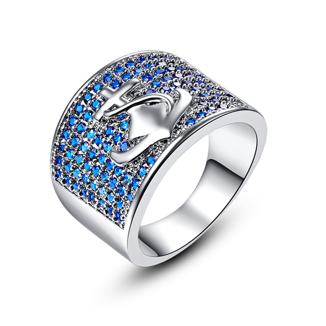 Jrose Art Deco Jewelry Vintage Anchor Wedding Rings Women Mens Lord