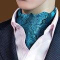Cityraider marca 2016 new mens gravata azul paisley floral lenço gravata de seda ocasional vestido de jacquard cachecóis cachecol laços tecidos b030