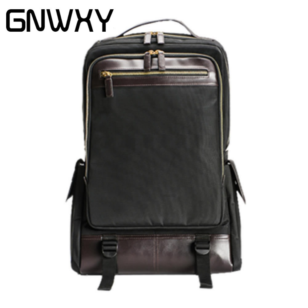 2018 New Type Men Business Backpack Nylon Waterproof Travel School Bag Vintage Fashion Bag Student Schoolbags For 14 inch Laptop voyjoy t 530 travel bag backpack men high capacity 15 inch laptop notebook mochila waterproof for school teenagers students