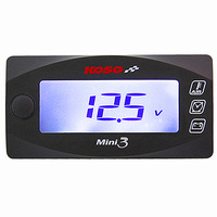 KOSO Mini LED Digital Display Voltmeter Mini Quad Square Voltage Meter Volt Tester Panel DC 12V
