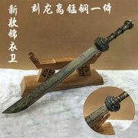 Полностью ручной работы Новый сабля Китайский Меч Лезвие катаны 49 см ручка King's ножи Винтаж дома металлические украшения не открытое лезвие