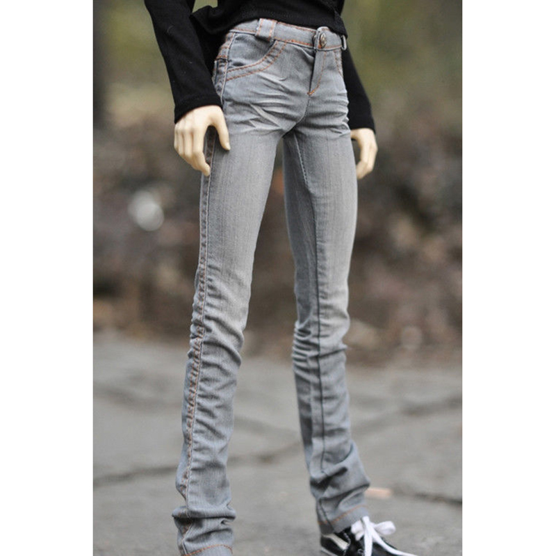 BJD Grey Blue Jeans Pants Trousers Outfits Clothing For 1/4 Male 1/3 SD17 70cm24 Tall BJD doll SD DK DZ MSD AOD DD Doll WearBJD Grey Blue Jeans Pants Trousers Outfits Clothing For 1/4 Male 1/3 SD17 70cm24 Tall BJD doll SD DK DZ MSD AOD DD Doll Wear