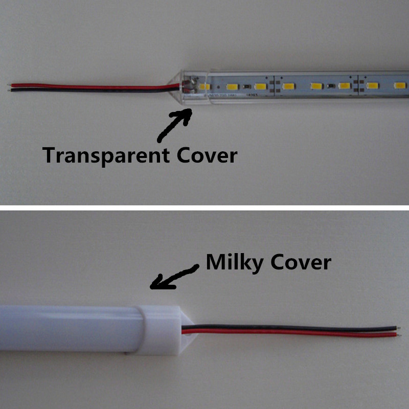50CM LED Bar light LED Cabinet Light Factory Wholesale DC12V 36 SMD 5730/5630 LED Strip LED Hard Rigid Aluminium shell PC cover