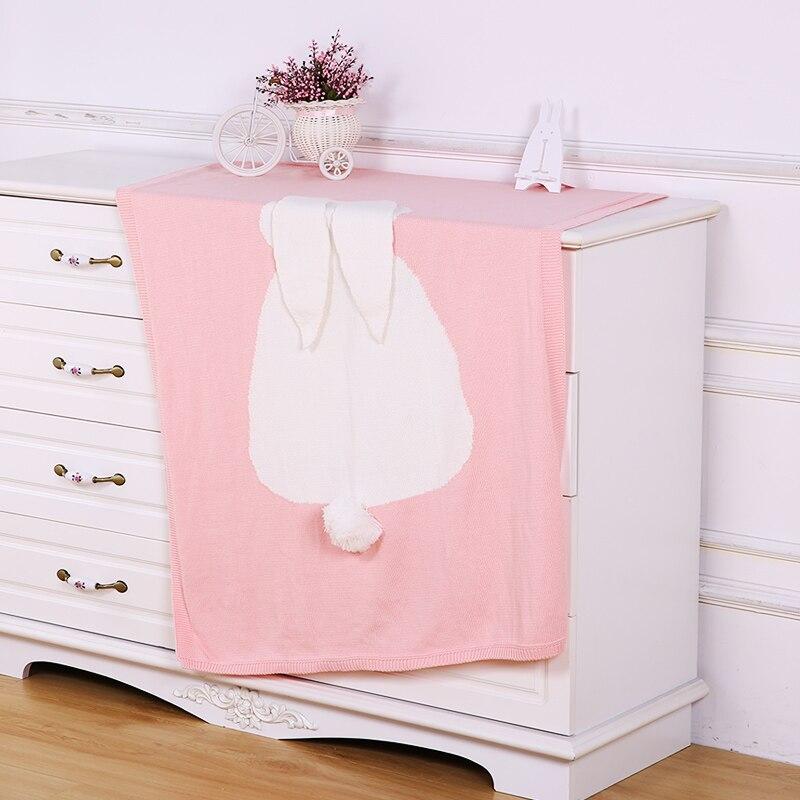 Mamadada Soft Animal Bear Rabbit Fox Blanket Babies Blankets Children Cover Infant Cotton Crochet Newborn Pure Color