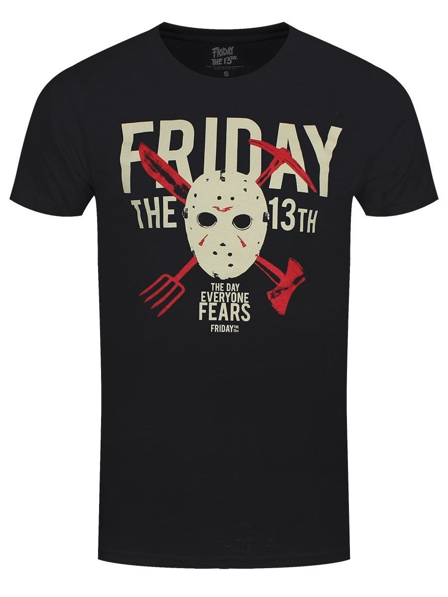Friday The 13th Day Of Fear Mens Black T-shirt