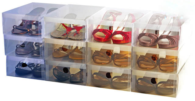 Bon Shoe Box High Quality Ladies Stackable Clear Plastic Storage Box For High  Heel Flat Shoes Organizer 10pcs/lot Freeshipping In Storage Boxes U0026 Bins  From Home ...