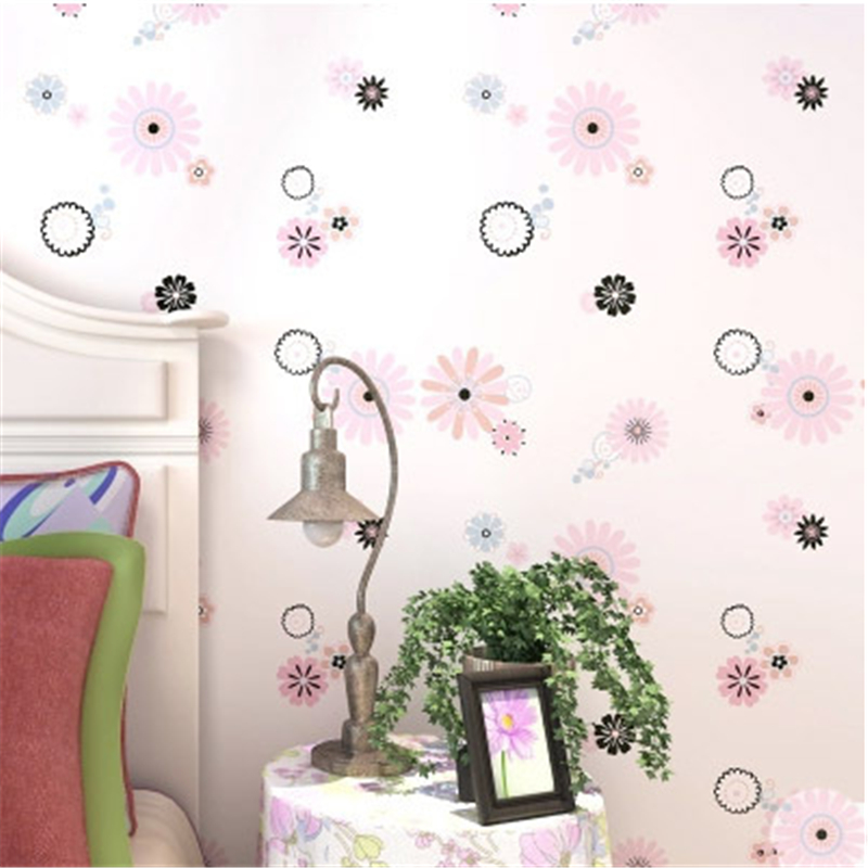 beibehang New Cute Flowers Print Kids Room Decor Wallpaper Lovely Floral Wallpapers Boys Girls Bedroom Decorative Mural Wallbeibehang New Cute Flowers Print Kids Room Decor Wallpaper Lovely Floral Wallpapers Boys Girls Bedroom Decorative Mural Wall