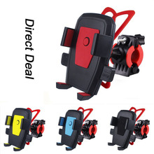 Bicycle Phone Holder Bracket 360 Degree Rotating  For iPhone Samsung Universal Auto-Lock Mobile Frame Car-mounted Clamp