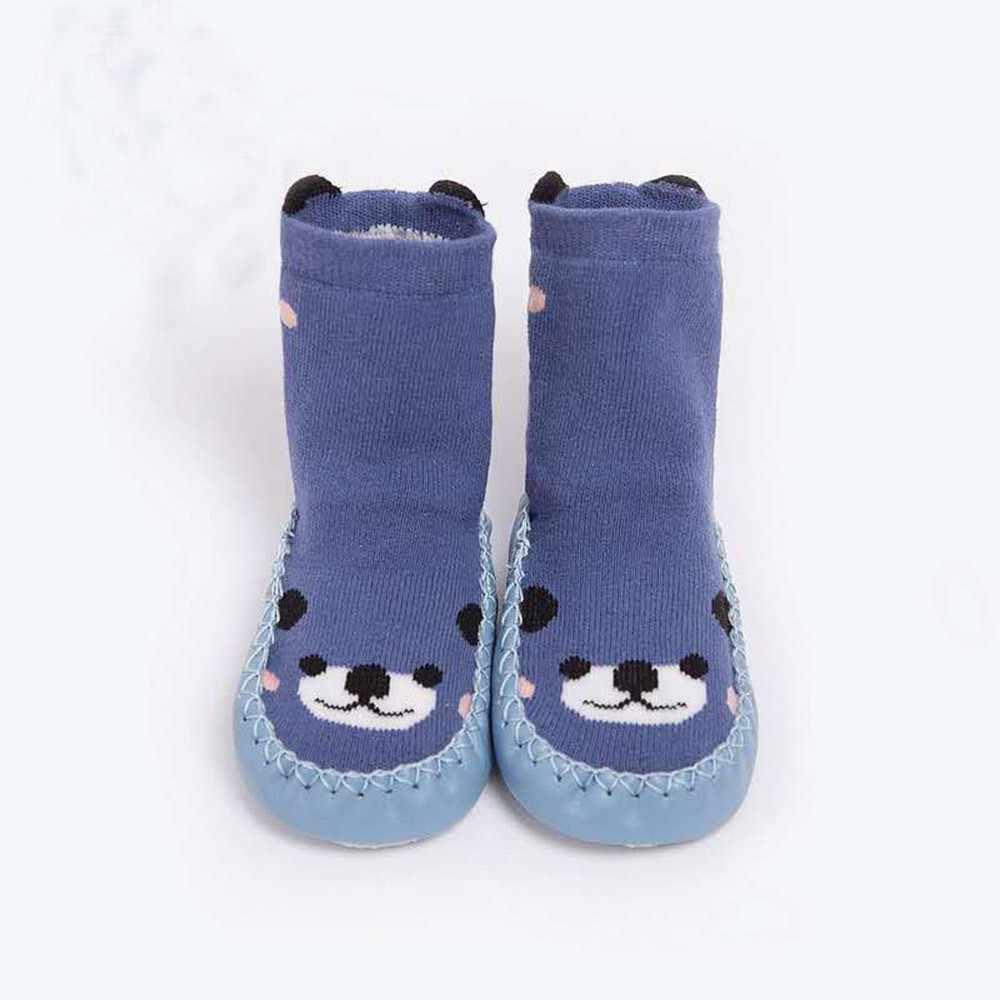 Invierno cálido bebé niñas niño Calcetines niños niño bebé niños dibujos animados Animal grueso cálido antideslizante calcetines zapatillas suave zapatos Calcetines