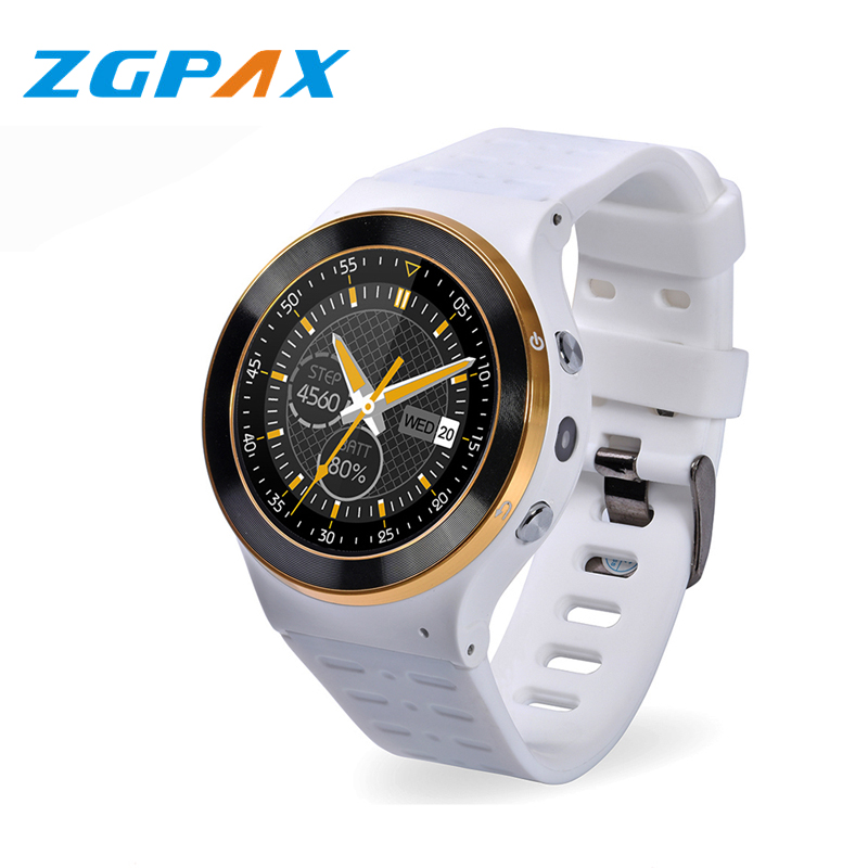 ZGPAX S99  Bluetooth Smart Watch MTK6580 Android 5.1 3G Smartwatch With Camera WiFi GPS Heart Rate Monitor PK Moto360 Q50 Q60