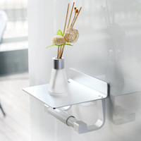 High Quality Aluminum Alloy Toilet Paper Holder Fixed Wall Installation Storage Rack Shelves Roll Paper Bathroom