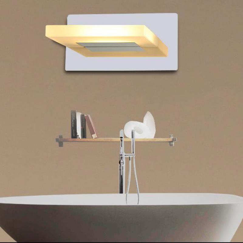 Modern Led wall fixtures Bathroom acrylic Led mirror light indoor Lighting wall sconce with led strip Toilet Wall Lamp Arandela все цены