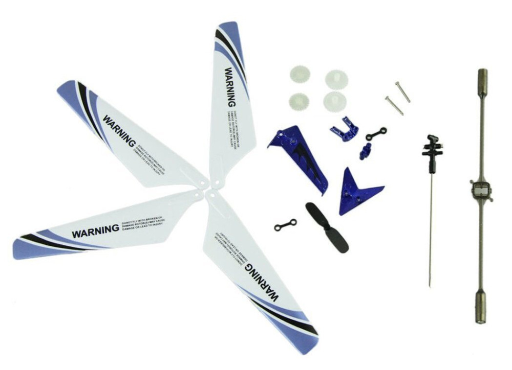 LeadingStar Main Blades Main Shaft Tail Decorations Tail Props Balance Bar Gear Set Full Replacement Parts