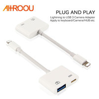 New For Lightning To USB 3 Camera Adapter Data Sync Charge Cable Micro Connect Kits For