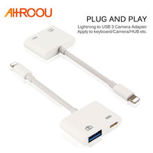 New For Lightning to USB 3 Camera Adapter Data Sync Charge Cable Micro Connect kits For iPhone 6 7 8 X For iPad Series