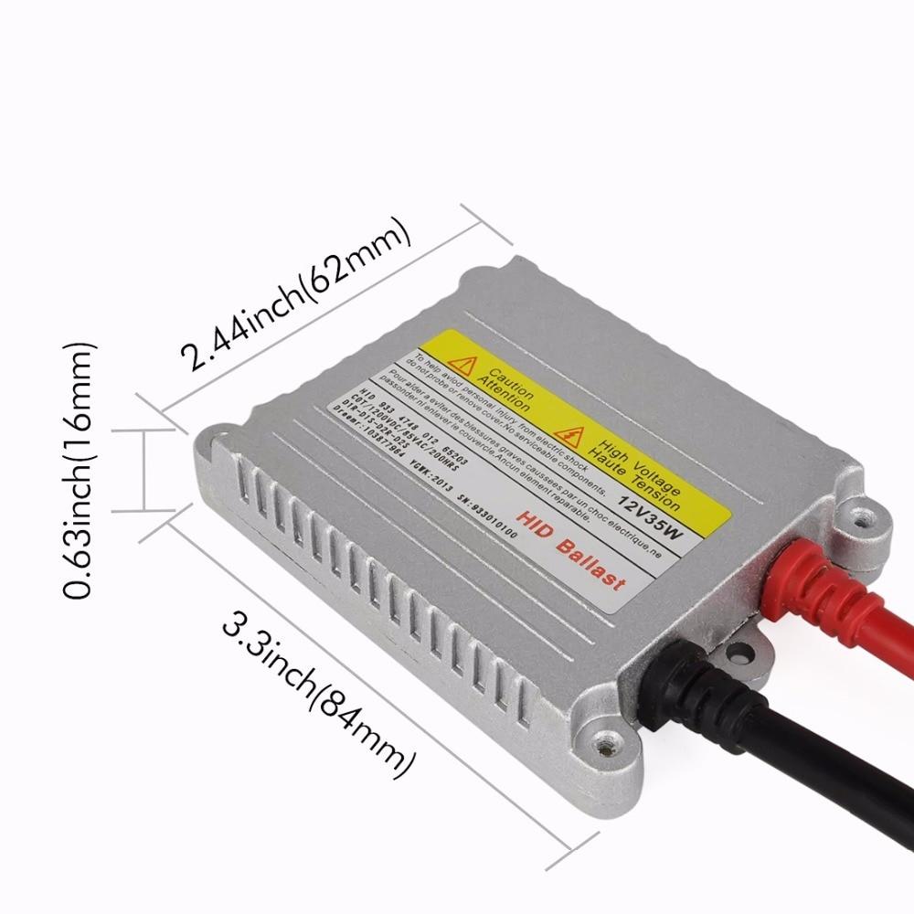Safego 2X HID xenon smal ballast 12v 35w block tändningsreaktor - Bilbelysning - Foto 3