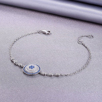 S New s925 sterling silver bracelet stylish exquisite love compass bracelet Silver necklace pendant gift
