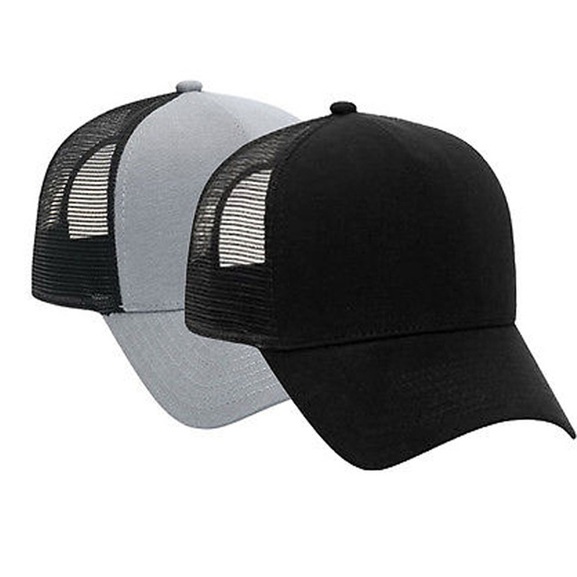 6c59145d464 Cotton Flannel Trucker Hat with Adjustable Mesh Back Justin Bieber SOLID  BLACK Baseball Caps