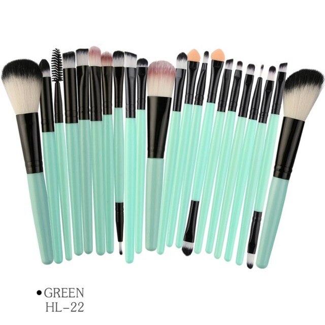 MAANGE 22Pcs Professional Makeup Brushes Set Wood Handle Eyeshadow Eyebrow Eyeliner Powder Smudge Face Cosmetic Beauty Tool Kit 1