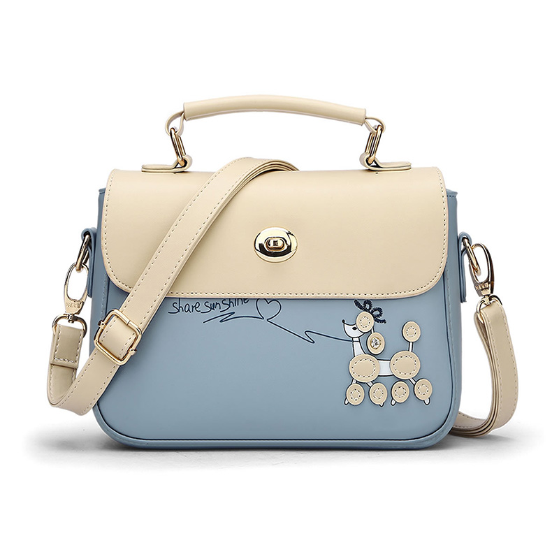 CNMIUTER Brand Fashion Small Women Messenger Bags Fresh Students Girls Shoulder Bags Candy Colour Lady Bag with Dog Cartoon summer korean version shoulder bags double pull pu cartoon girls handbags fresh lady messenger bag fashion leisure package