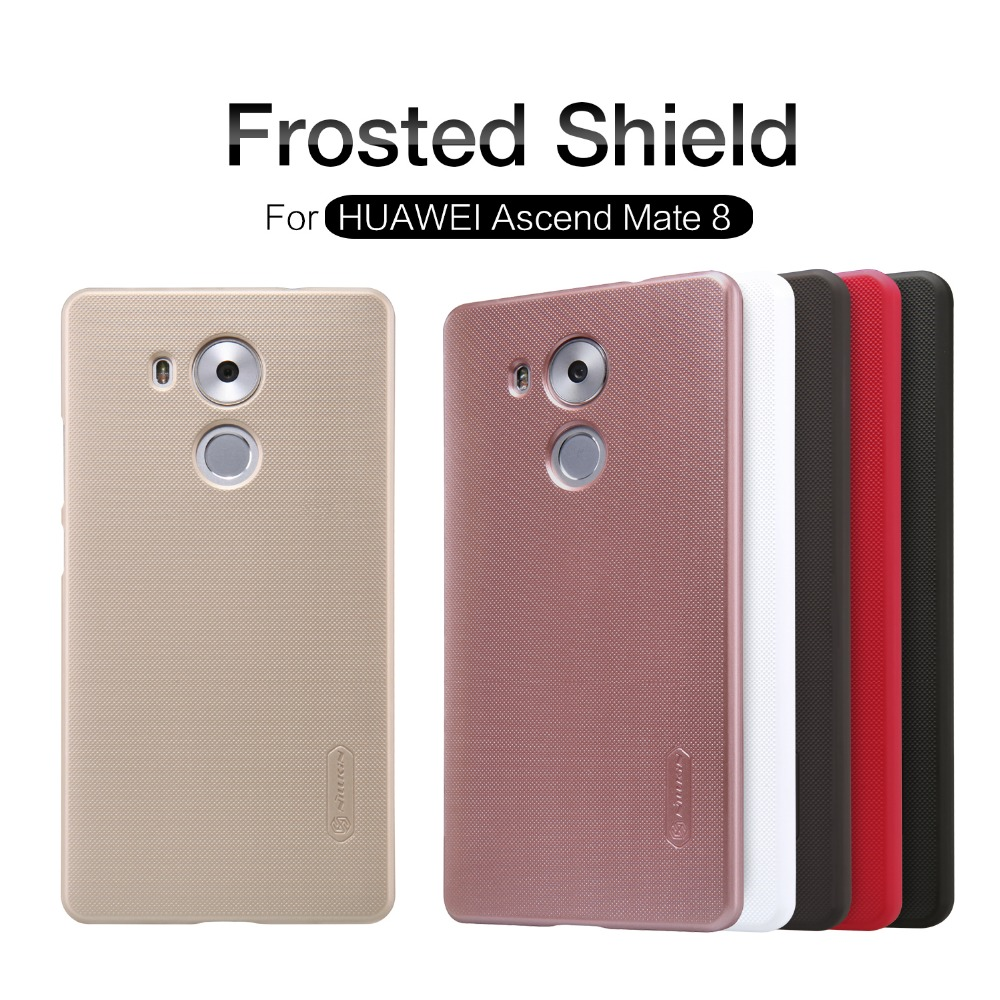 Huawei Mate 8 case hard black cover NILLKIN Super Frosted Shield case for Huawei Mate 8 with free screen protector