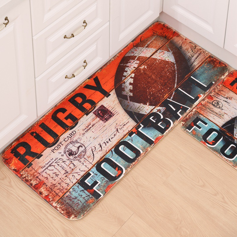 50cm*120cm Cartoon Football Carpet Flannel Runner Rug For Kids Room Hallway  Modern Area Rugs