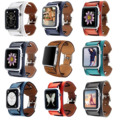 9 colores pulsera de la venda del cuero genuino cuff para apple watch serie 2 correa para la muñeca para apple watch iwatch primero segundo pulsera