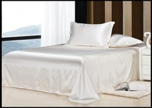 luxury ivory cream milky white natural mulberry silk bedding set king size queen full twin duvet cover bed linen sheet