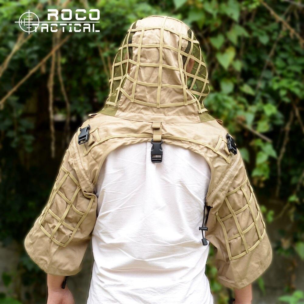 Veste militaire de Camouflage de base de costume de Tog Ghillie de Sniper rocotactique pour l'hydratation militaire Airsoft Compatible