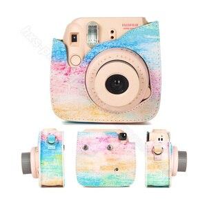 Image 4 - Fujifilm Instax Mini Camera Case Quality PU Leather Shoulder Bag with Strap for Fuji Instax Mini 9, Instax Mini 8 Camera