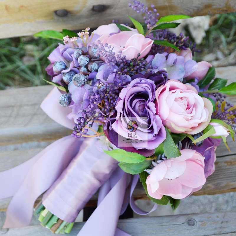 100 % Handmade Country Style Silk Hybrid Artificial Flowers Wedding ...