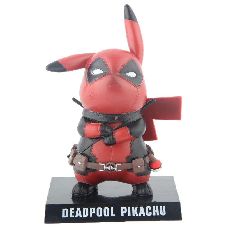 Pikachu Cosplay Deadpool Marvel X-men Action Figure Jouet Poupée 14 cm 5