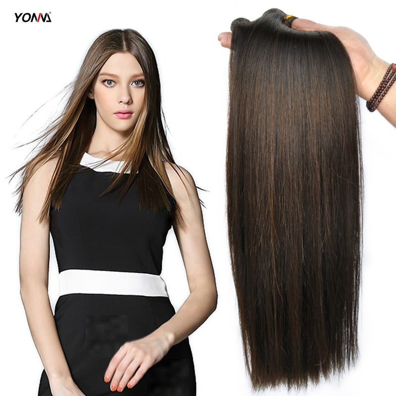 Yotchoi Indian Remy Hair Weaves Silky Straight 2 Dark Brown Colour