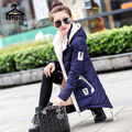 2017 Winter Coat Women Large Size Slim Down Jacket Cotton Long Paragraph Female Hooded Drawstring Coats YRH081
