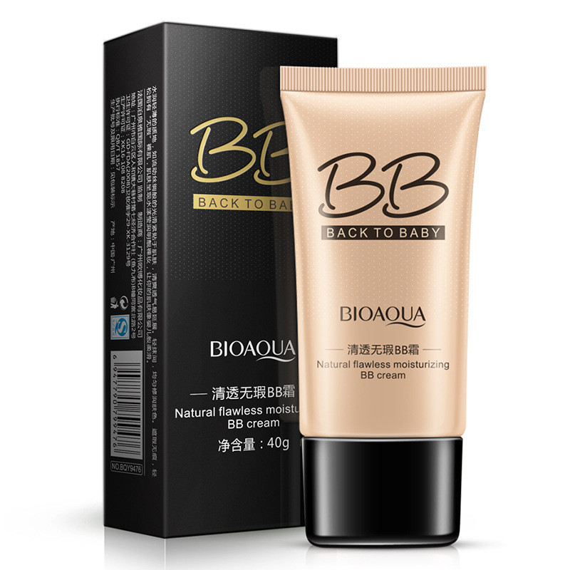 12Pcs BIOAQUA Natural Flawless BB Cream Whitening Moisturizing Concealer  Nude Foundation Makeup Face Beauty beauty missha skin79 pink super plus beblesh balm triple red snail bb cream concealer makeup whitening cc cream face 40g make up
