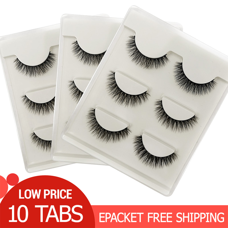 10 Boxes Wholesale Eyelashes Natural Mink Eyelashes Make Up Full Strip Lashes Thick Makeup Wholesale False Eyelashes Mink Lashes