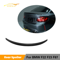 Carbon Fiber / FRP Car Rear Trunk Boot Lip Wing Spoiler for BMW F22 F23 220i M235i M240i 228i 218i F87 M2 2014 2019