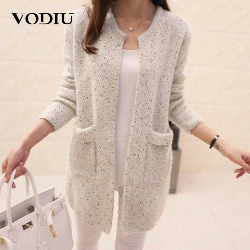 Cardigan Female Casual Sweaters Autumn Winter Long Sleeve Solid Jumper Knitted Cardigans Coat Women Autumn Knitwear Cardigan