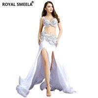 Бесплатная доставка Профессиональный танец живота костюм для индийский производительность наряды Болливуда танцор танец живота костюм бл