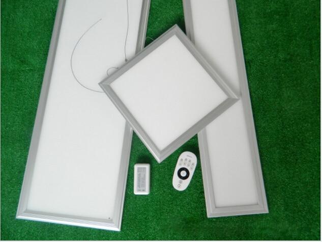 frete gratis 295x295 mm regulavel e cor mutavel com 2 4g controle remoto de aluminio pmma