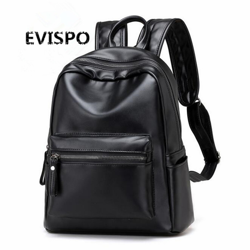 2017 EVISPO New Travel Backpack Korean Women Backpack Leisure Student Schoolbag Soft PU Leather Women Bag
