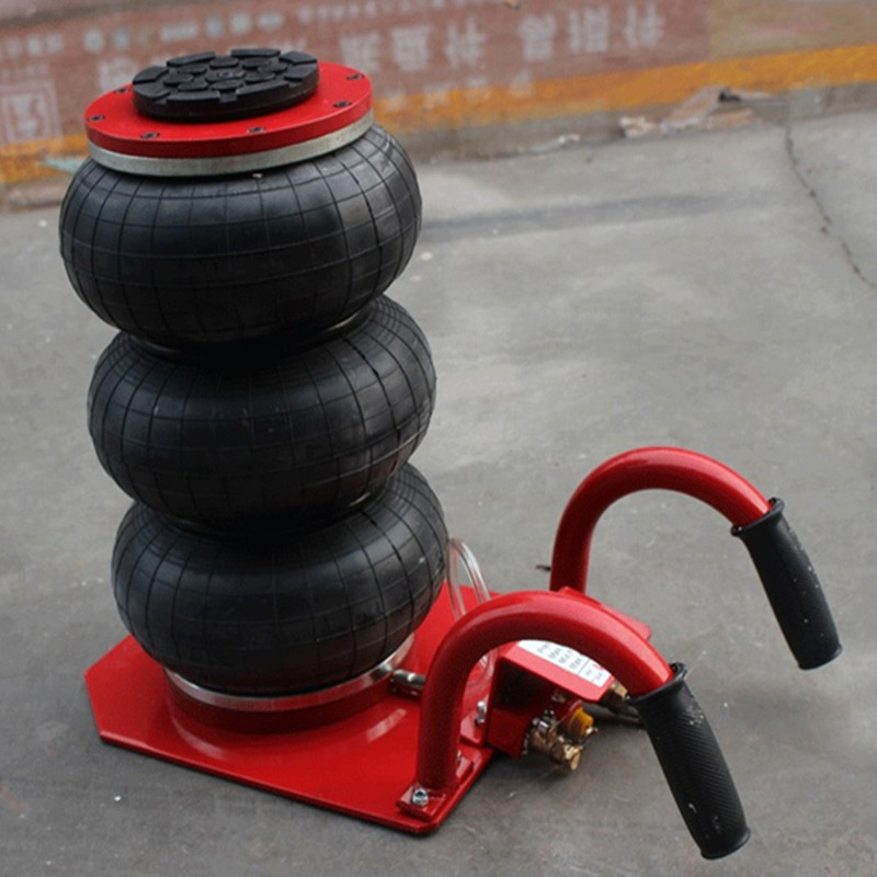2.5Ton Hand-held Car Air Bag Jack Balloon Type Jack Car Pneumatic Airbag Jack Three Layers Horizontal Jack pneumatic airbag jack pneumatic jack white air pressure auto jack instrument of vehicle maintenance and repair