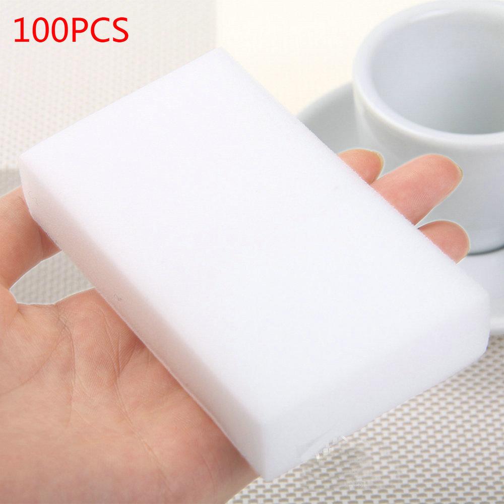 100 pcs/lot melamin schwamm Magie Schwamm Radiergummi Melamin Reiniger für Küche Büro Bad Reinigung Nano schwamm