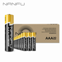 NANFU 20 Pcs/Set AAA Batteries LR03 Alkaline Battery 1.5v for Clocks Remote Game Controller Toys Electronic Device Mouse[RU]