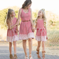 Summer Mother and Daughter Clothes Parent child Striped dress Family Matching Outfits Mother Daughter Dresses