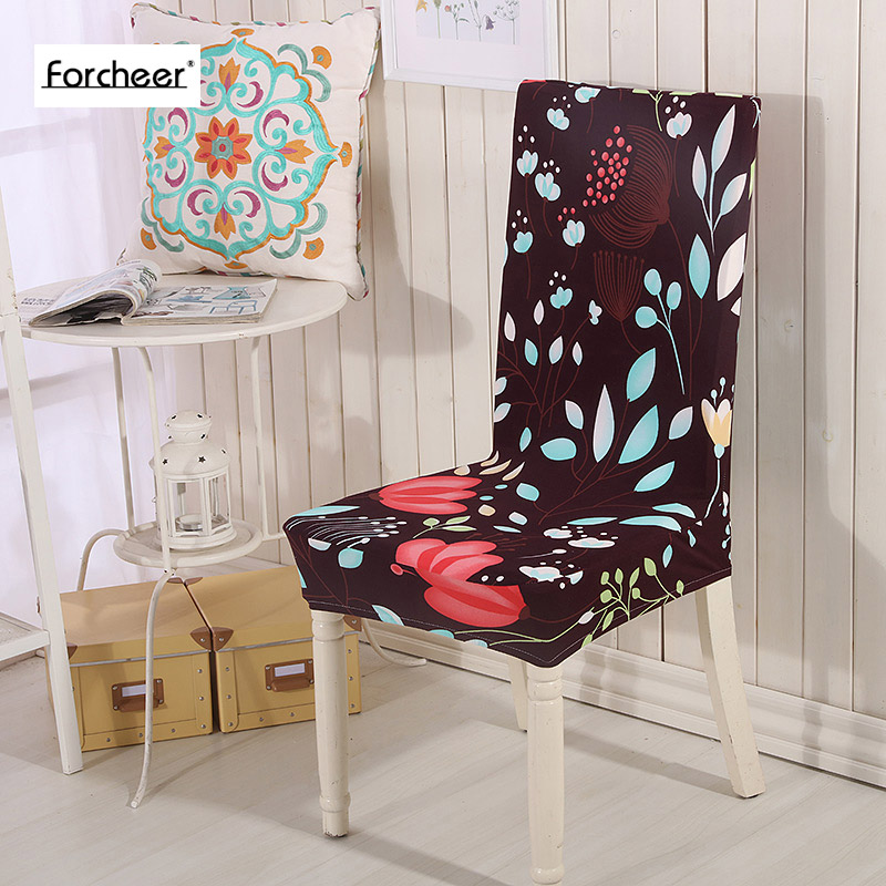 Garden Furniture Cover Anti-dirty Floral Stretch Polyester Spandex Chair Seat Cover for Wedding Banquet Fold Hotel Chair Cover